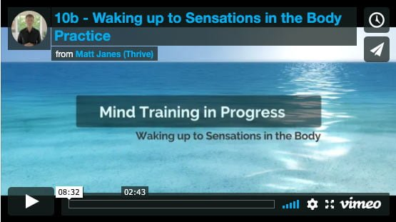 Waking Up to Sensations in the Body Practice