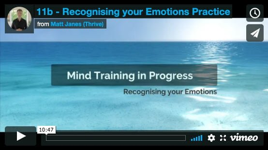 Recognising your Emotions Practice