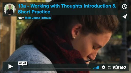 Introduction to Working with Thoughts
