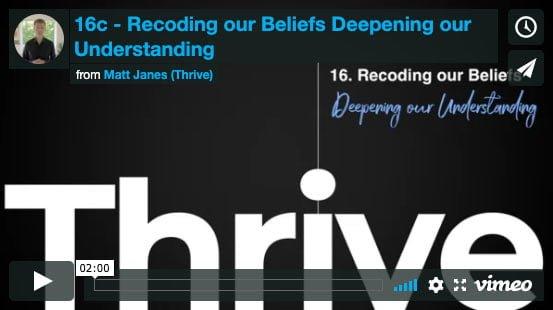 Recoding our Beliefs – Deepening our Understanding