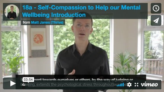 Introduction to Self-Compassion to Help our Mental Wellbeing