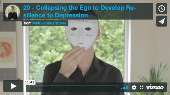 Collapsing the Ego to Develop Resilience to Depression